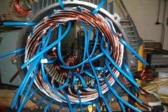Einbau der Spulen Sonderantrieb 355kW Druckerhöhungsgebläse