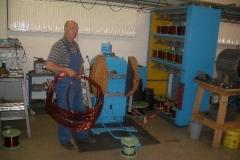 Fertigung der Spulen, Sonderantrieb 355kW Druckerhöhungsgebläse