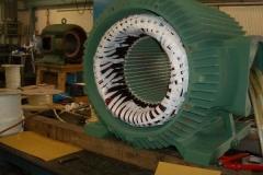 Neuwicklung inkl. Bandage eines 315kW Normmotor 2-polig
